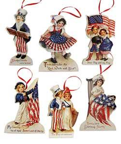 Americana Die Cut Ornaments (Set of 6)