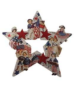 Americana Star Die Cut Wreath