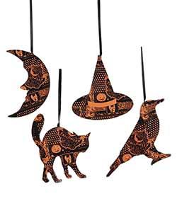 Halloween Magic Ornaments (Set of 4)