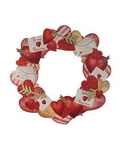 Valentine's Day Dummy Board Wreath