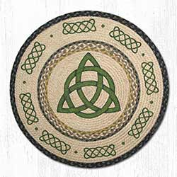 Irish Knot Round Braided Rug