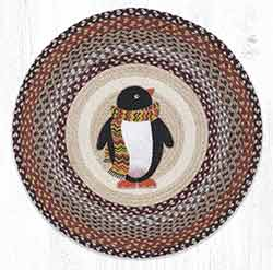 RP-587 Penguin Round Braided Rug