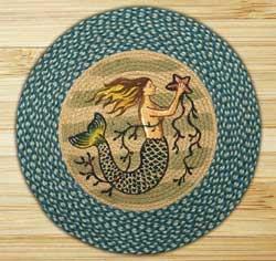Mermaid Braided Jute Rug - Round