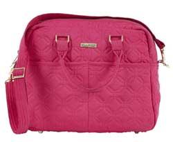 Raspberry Rebel Microfiber Bowler Handbag