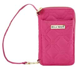 Raspberry Rebel Microfiber Wristlet Wallet