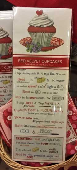 Red Velvet cupcake Recipe Bagged Towel