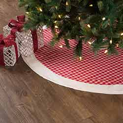 Red Plaid 48 inch Tree Skirt