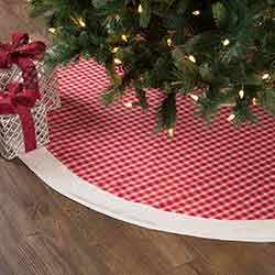 Red Plaid 60 inch Tree Skirt