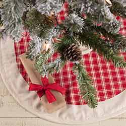 Red Plaid Mini 21 inch Tree Skirt