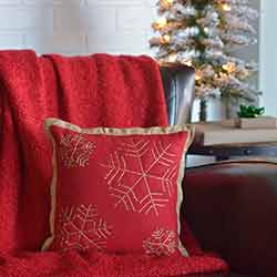 Revelry Snowflake Pillow (12x12)