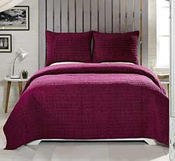 Rochelle Boysenberry Quilt Set (Multiple Size Options)