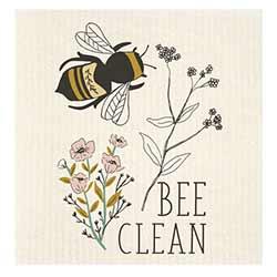 Bee Clean Bees Swedish Dishcloth