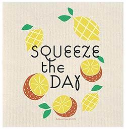 Squeeze The Day Lemon Swedish Dishcloth