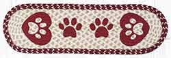 ST-OP-9-117 Heart Paws Oval Stair Tread