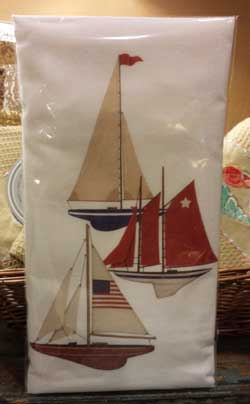 Sailboats Flour Sack Towel