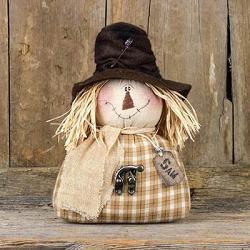 Small Salvage Sam Half Body Scarecrow