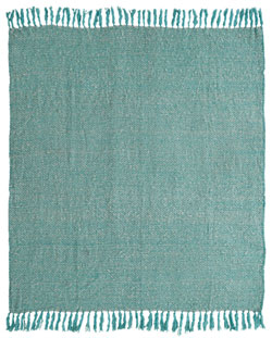 Sea Glass Woven Throw