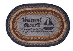 Seapoint Jute Rug - Welcome Aboard