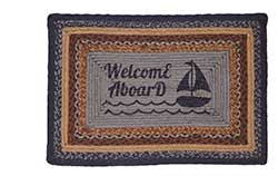 Seapoint Jute Rug - Welcome Aboard (Rectangle)