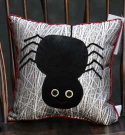 Silver Web Large Spider Pillow