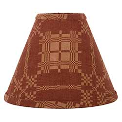 Smithfield Jacquard Red Lamp Shade - 10 inch