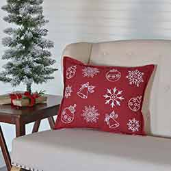 Snow Ornaments Pillow (14x18)