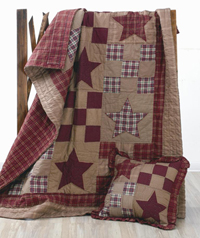 Star Patch Quilted Throw