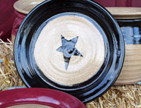 Hand-Thrown Star Plate - Black