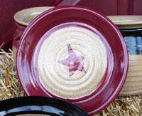 Hand-Thrown Star Plate - Red