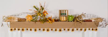 Sunflower Mantel Scarf