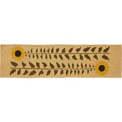 VHC Brands (Victorian Heart) Sunflower Tablerunner, 36 inch