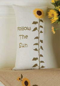 Victorian Heart Sunflower Accent Pillow