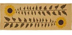 VHC Brands (Victorian Heart) Sunflower Tablerunner, 48 inch