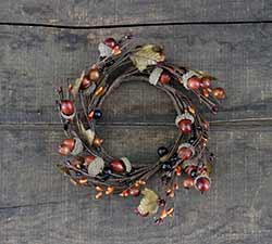 Fall Acorn Candle Ring - 4 inch