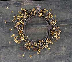 Old Gold Rusty Star Candle Ring