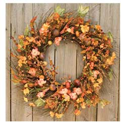 Harvest Garden Twig 18 inch Wreath