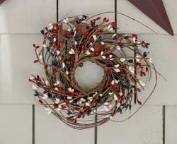 Patriotic Pip Berry Mini Twig Wreath
