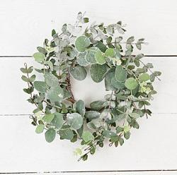 Snowy Eucalyptus 4.5 inch Candle Ring