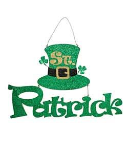St. Patrick's Day Tin Cutout Sign