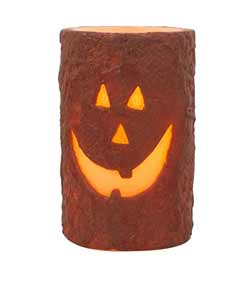 Jack O'Lantern 5 inch Battery Pillar Candle