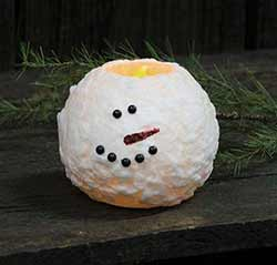 Snowman Battery Ball Candle - 5 inch