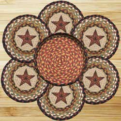 Barn Star Braided Jute Trivet Set