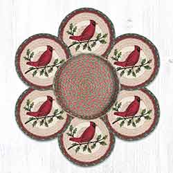TNB-25 Holly Cardinal Trivet Set