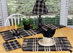Middletown Black Table Runner