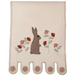 Bunny in the Garden Table Runner