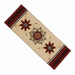Folk Art Flowers Table Runner