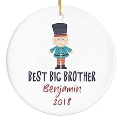 Best Brother Ornament with Soldier