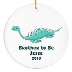 Teal Dinosaur Personalized Ornament