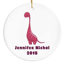 Red Dinosaur Personalized Ornament