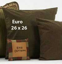 Tea Cabin Euro Shell - Green Fabric